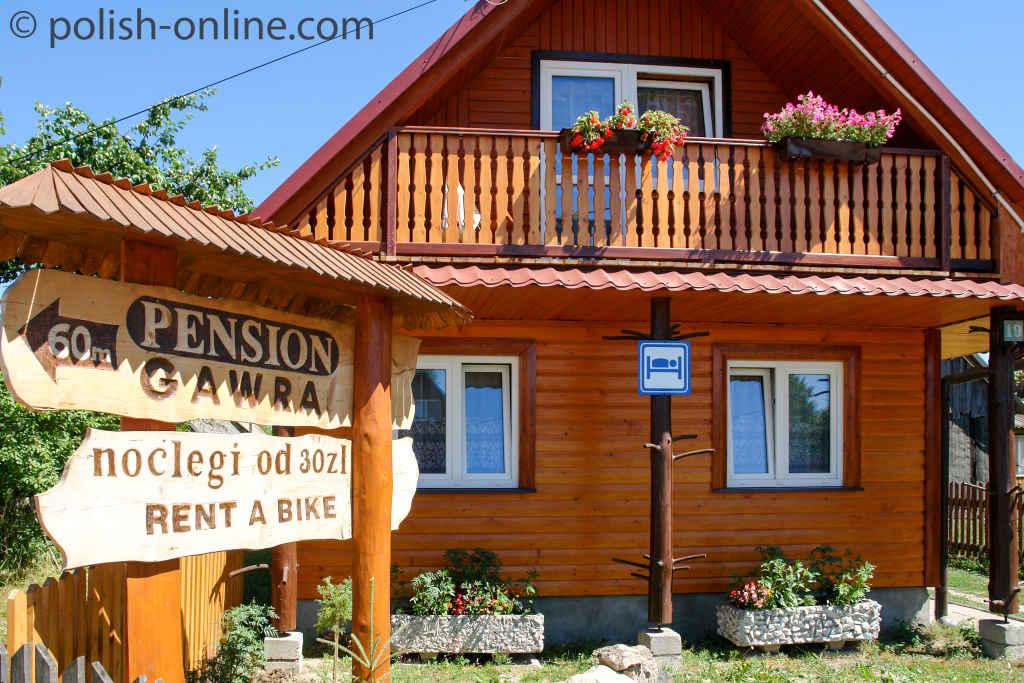 Pension in Białieza