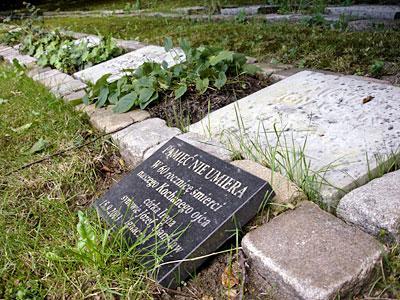 Grabstein des Polen Michał Ignaczak auf dem Eichof Friedhof in Kiel