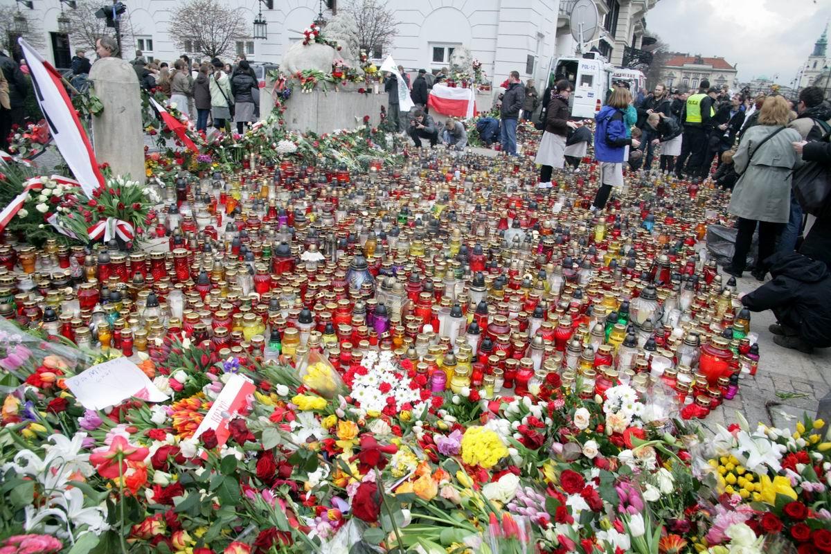 Blumenmeer in Warschauer Innenstadt