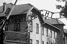 Eingang zum Konzentrationslager Auschwitz