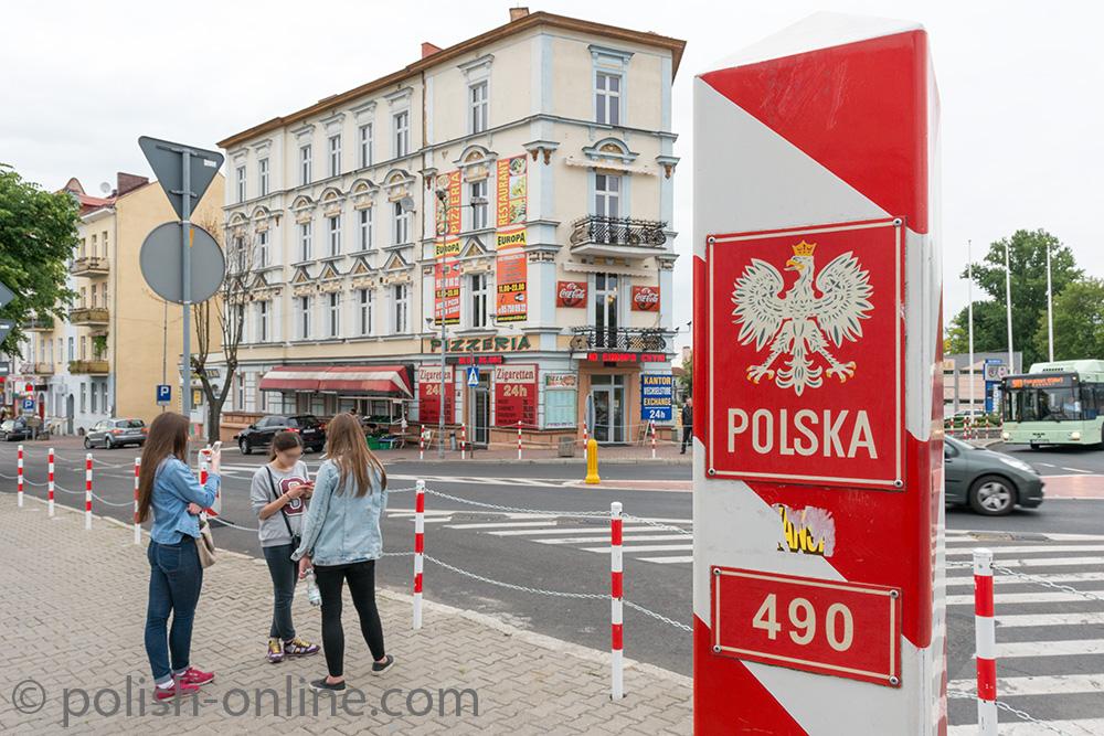 Polnischer Grenzpfahl