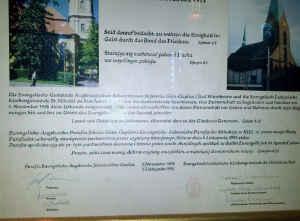 Gedenktafel in der Kirche St. Nikolai zu Kiel