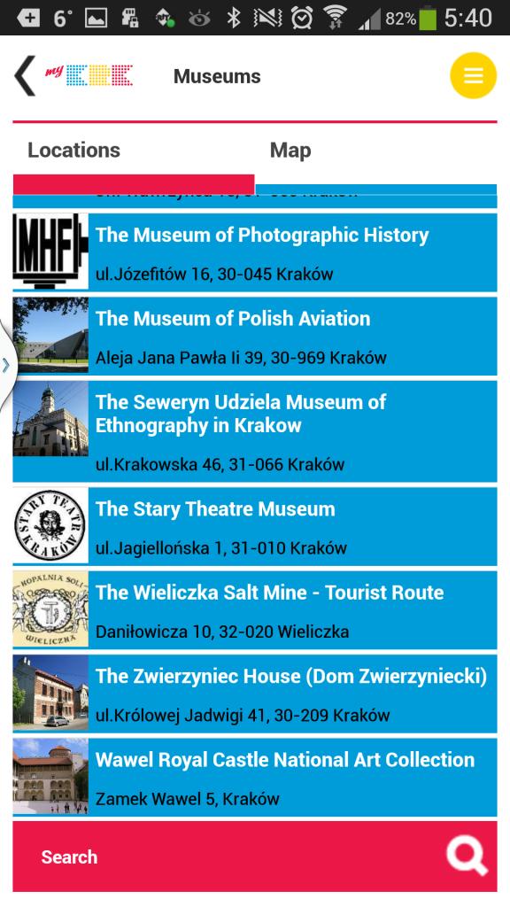 Alphabetisch geordnet - Museen in Krakau.