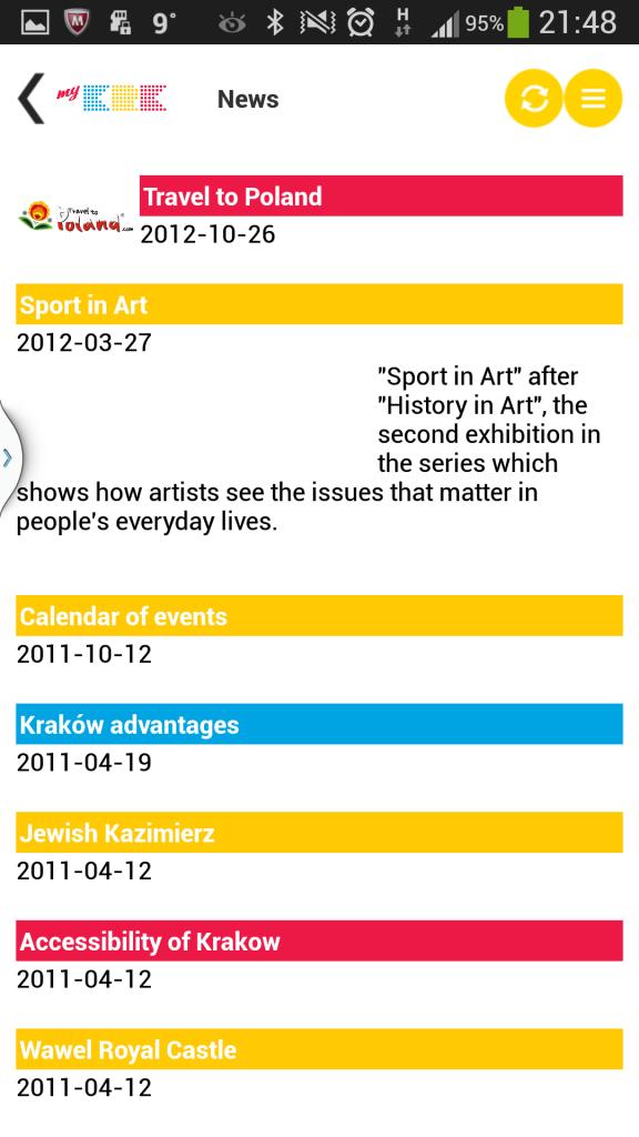 News in Krakau-App