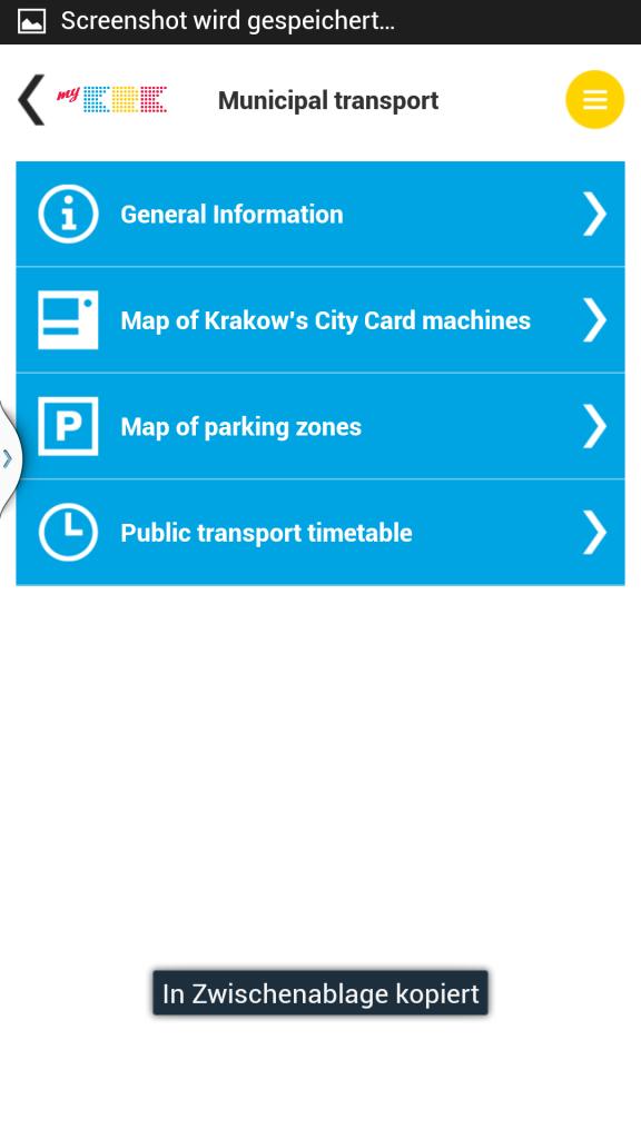 Öffentlicher Verkehr in Krakau