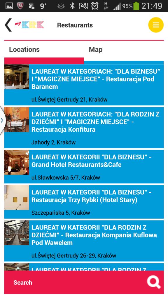 Restaurants in Krakau