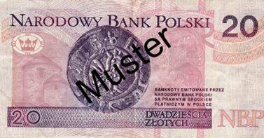 Polnischer 20-Zloty-Geldschein