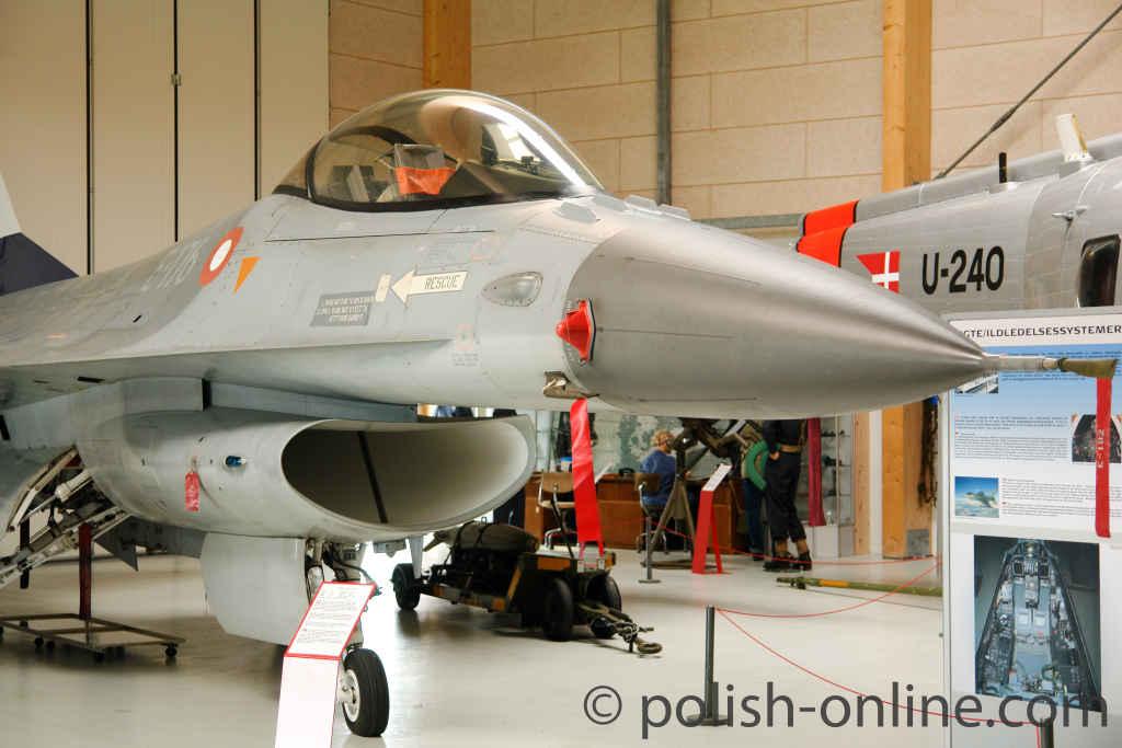 Ausgemusterter F16-Kampfjet