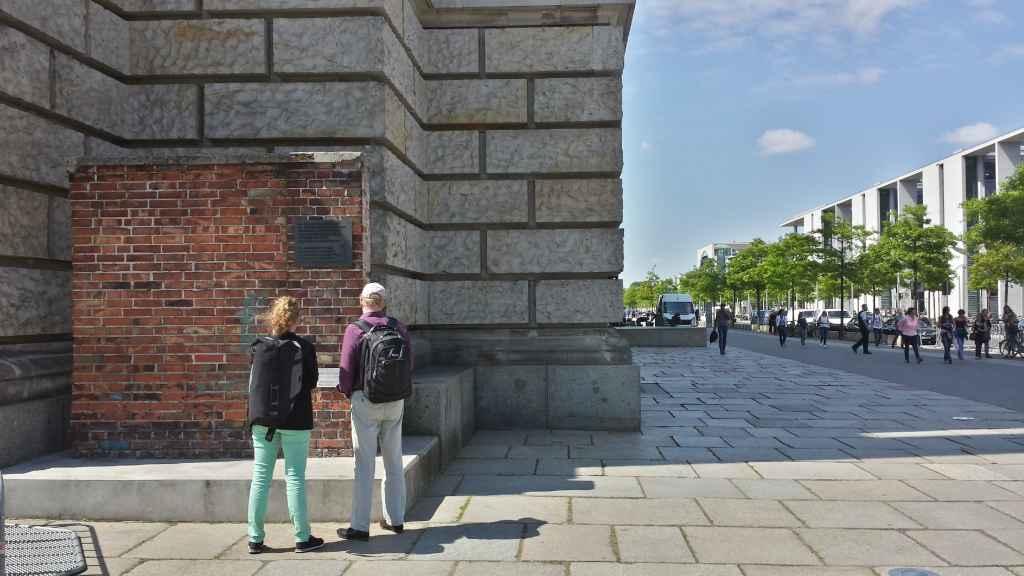 Mauerfragment von der Danziger Leninwerft