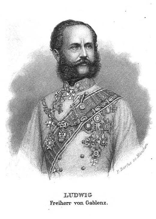 Österreichischer General Ludwig von Gablenz
