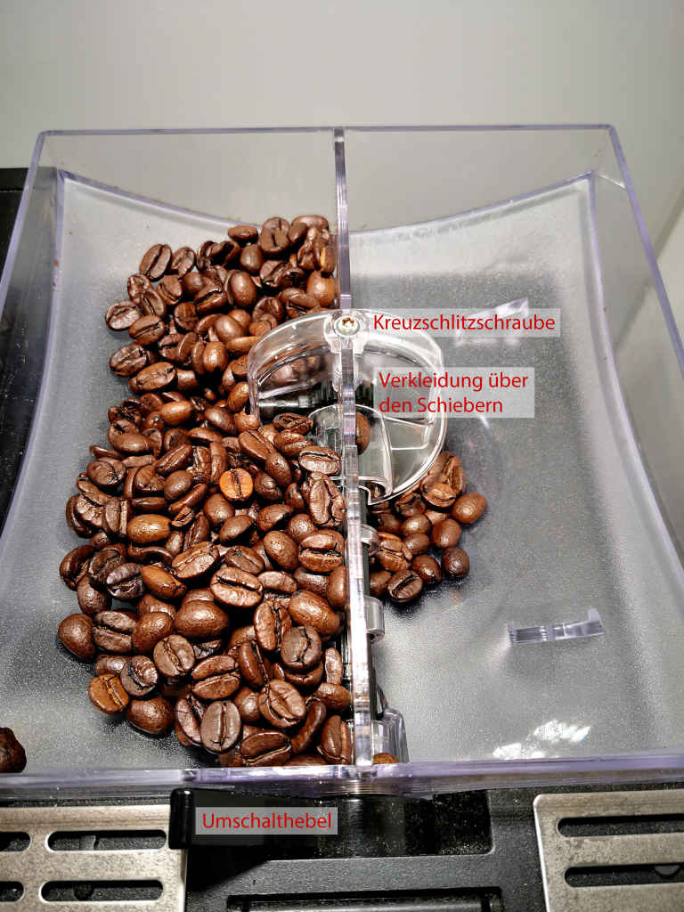Der Bohnenbehälter einer Melitta Caffeo CI