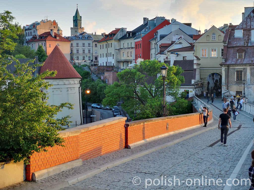 Lubliner Altstadt im Licht der untergehenden Sonne
