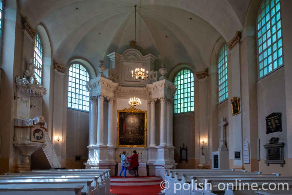 Innere der evangelischen Kirche in Lublin