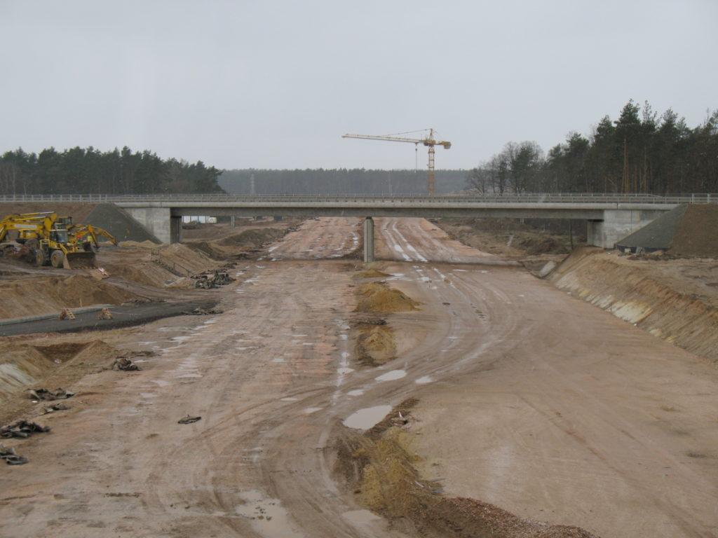 Bau einer Autobahn in Polen