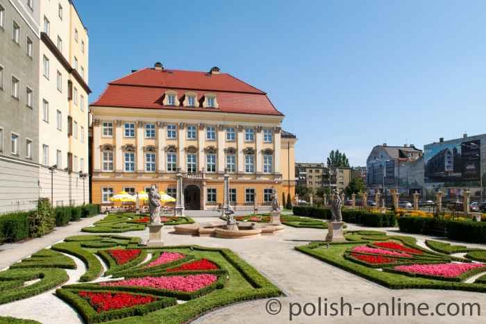 Barocker Garten des Königsschlosses Breslau (Wrocław)