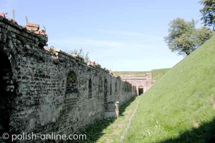 Festungswall der Festung Weichselmündung in Danzig