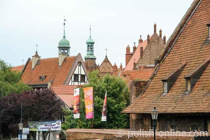 Dächer der Danziger Altstadt