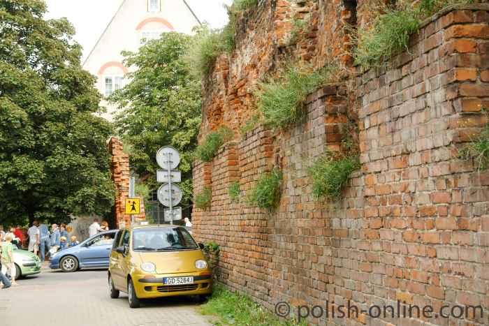 Fragmend Stadtmauer in Danzig