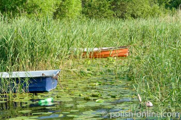 Ruderboot auf See Czos