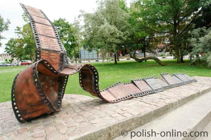 Skulptur Filmstreifen aus Stahl Gdingen (Gdynia)