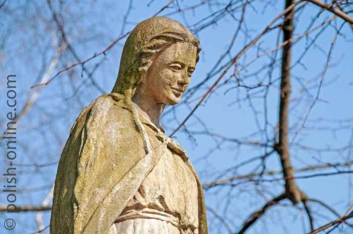 Marienstatue am Kloster Tyniec