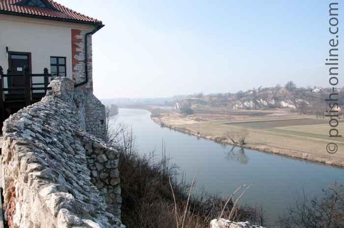 Blick vom Kloster Tyniec auf die Weichsel