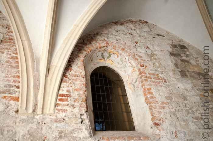 Fenster mit Fresken Tyniec