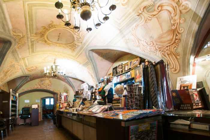 Souvenirladen im Collegium Maius in Krakau (Kraków)