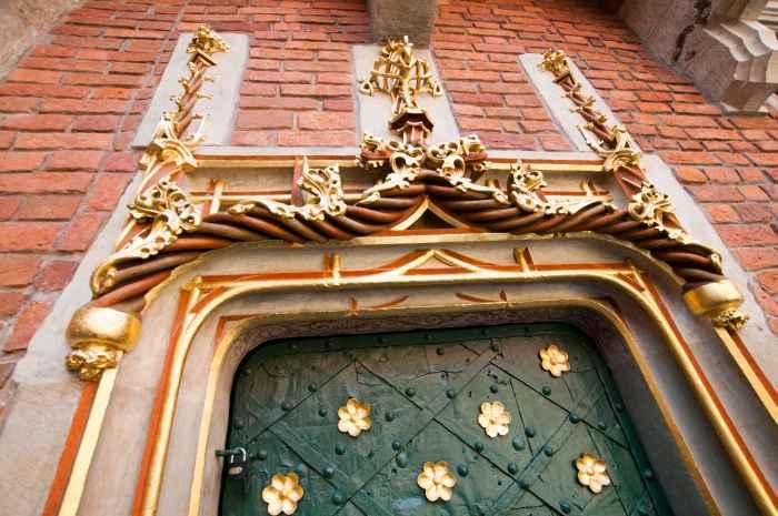 Fragment des Porta Aurea im Collegium Maius in Krakau (Kraków)