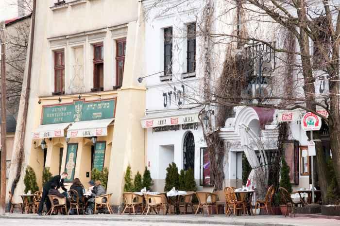 Jüdische Restaurants auf der ul. Szeroka in Krakau