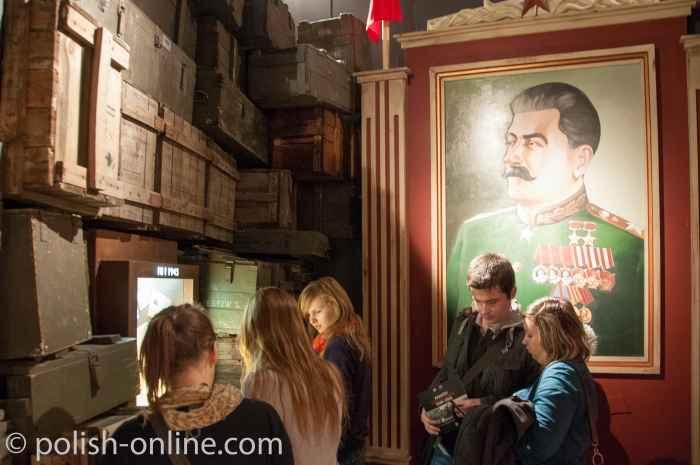 Stalinbild im Museum Fabrik Oskar Schindler