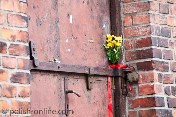 Eingangstür zu Block 10 im Stammlager KZ Auschwitz