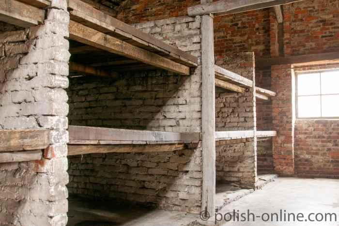 Backsteinbaracke in Auschwitz-Birkenau II