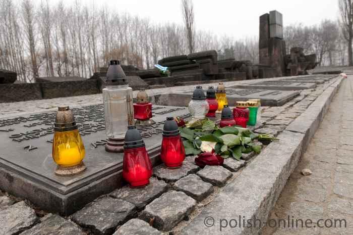 Denkmal in der Gedenkstätte Auschwitz Birkenau