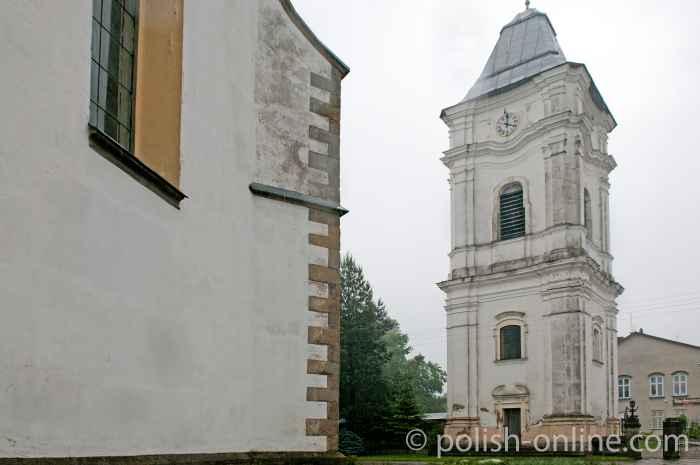 Pfarrkirche in Lesko in den Waldkarpaten Polen