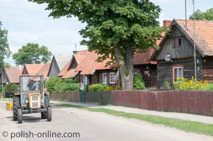 Traktor in Liebenberg (Klon) in Masuren