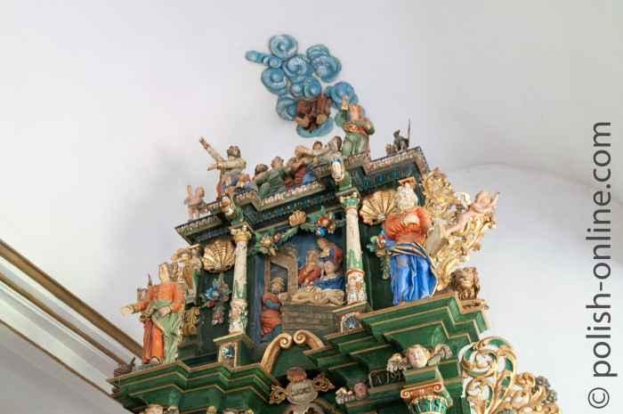 Hauptaltar aus der Spätrenaissance (1642) in der Kirche in Sorquitten