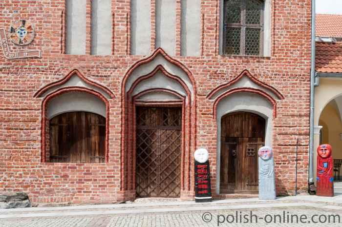 Südostseite des Alten Rathauses in Allenstein (Olsztyn)