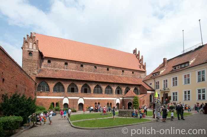 Blick in den Hof der Allensteiner Burg