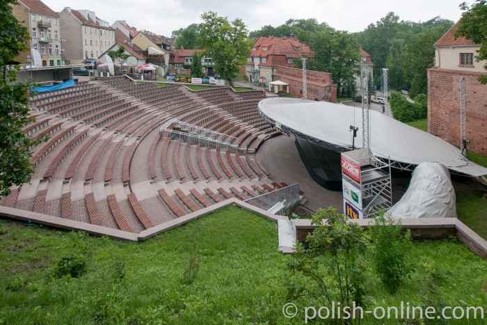 Amphitheater neben der Burg in Allenstein (Olsztyn)