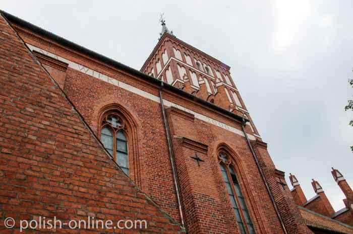 Foto vom Turm der gotischen St. Jakobus-Kirche in Allenstein (Olsztyn).