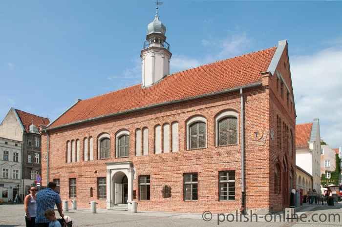 Das restaurierte Alte Rathaus von Allenstein (Olsztyn) in Polen.