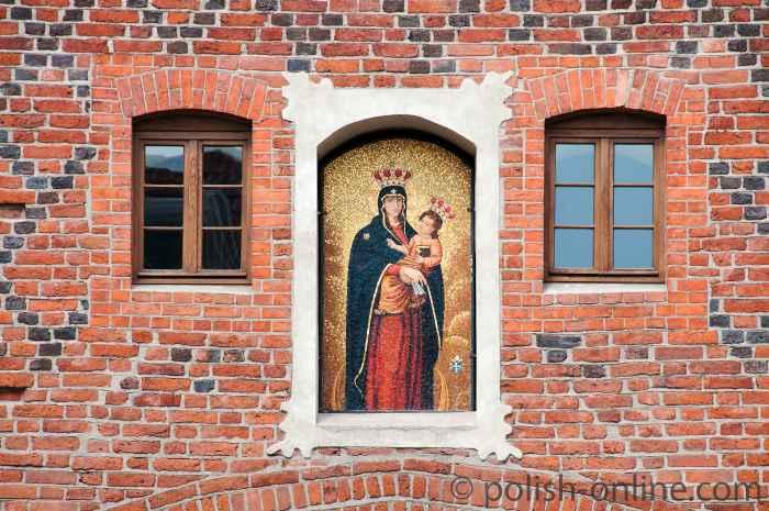Marienbild am Rathaus von Allenstein (Olsztyn)