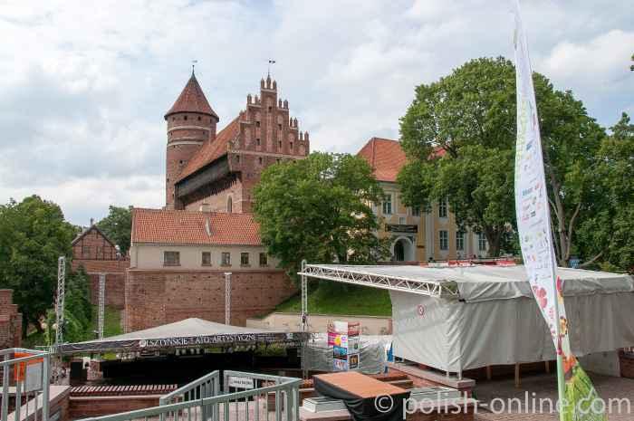 Amphitheater und Burg von Allenstein (Olsztyn)