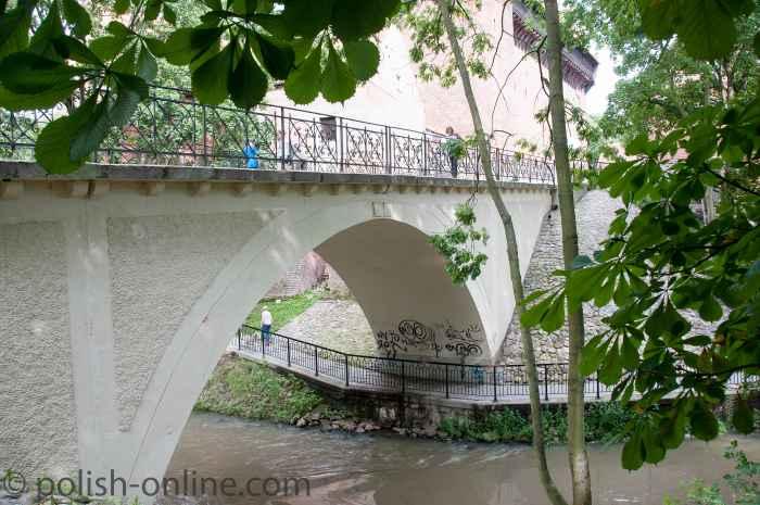 Brücke über die Alle (polnisch Łyna) in Allenstein (Olsztyn)