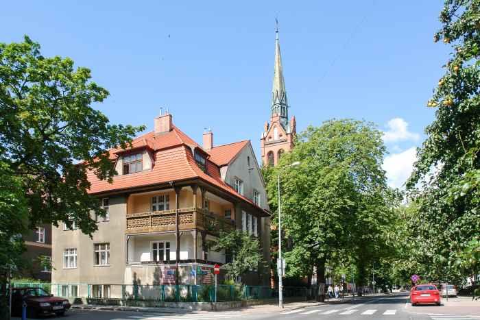 Turm der Peter-und-Paul-Kirche in Danzig Langfuhr