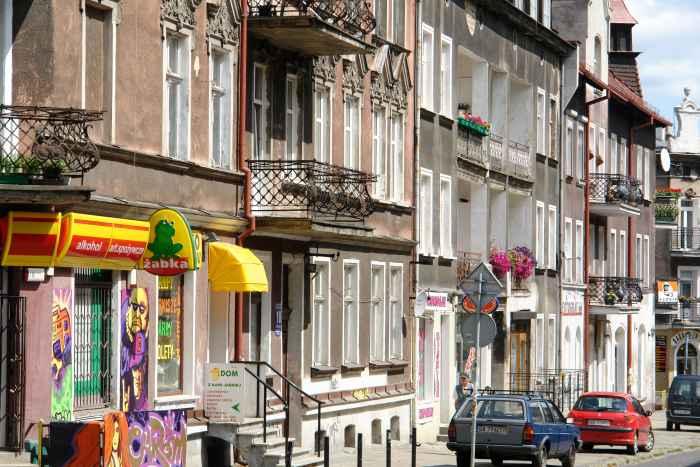 Häuserfront in Danzig Langfuhr