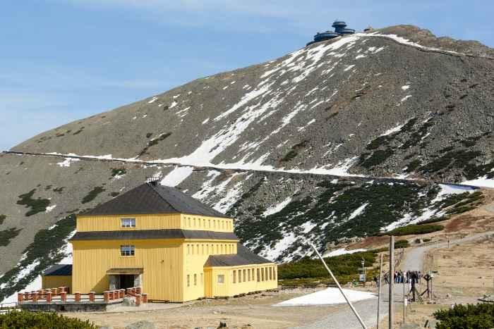 Blick auf die Schneekoppe vom Schlesierhaus aus