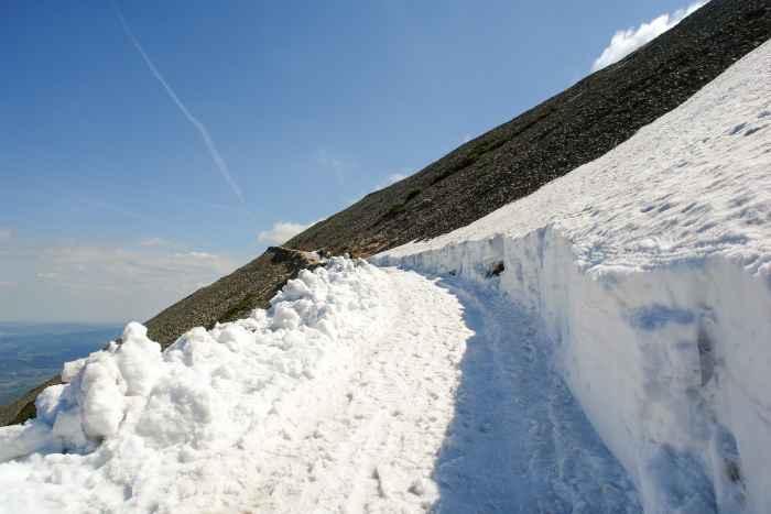Freundschaftsweg am Fuße der Schneekoppe