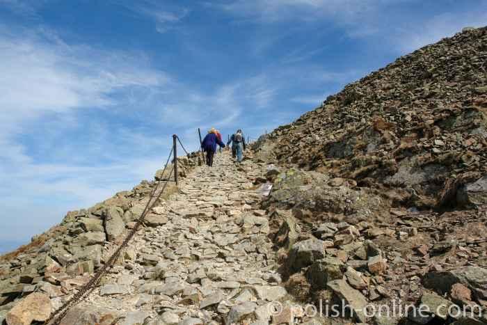 Steiniger Aufstieg zur Schneekoppe